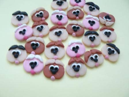 Dog face buttons