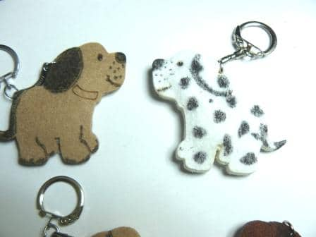 Puppy shape key ring