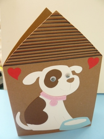 Dog house postcard