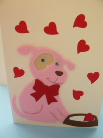 Pink dog postcard
